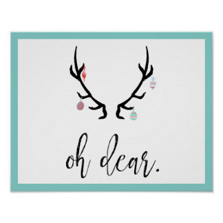 Oh Dear Christmas Poster | Antlers