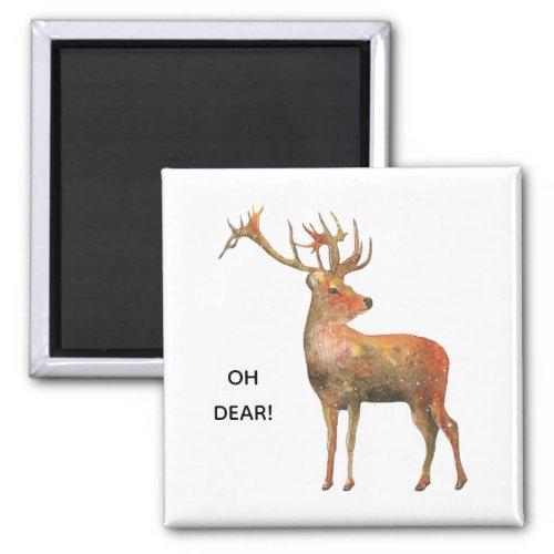 Oh Dear Funny Dear Kitchen Refridgerator Magnet