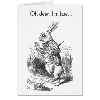 Oh dear, I'm late... Greeting Card