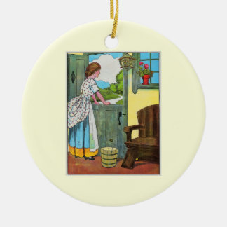 Oh, dear, what can the matter be? ceramic ornament