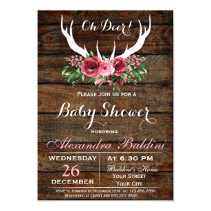Baby Deer Invitations Announcements Zazzle