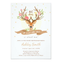 Oh deer baby shower invitation Woodland Antlers
