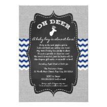 Oh Deer Buck Baby Sprinkle navy gray white Card