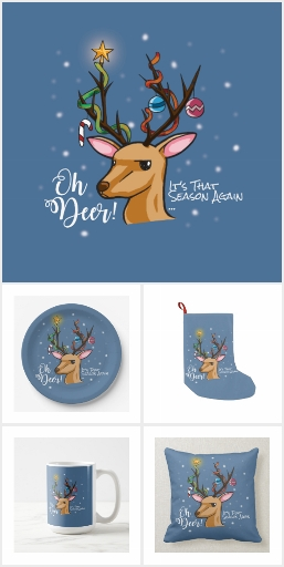 """Oh Deer"" Christmas Decoration"