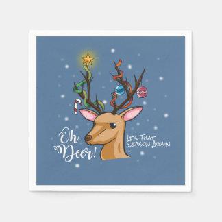 """Oh Deer"" Christmas Decoration Paper Napkin"