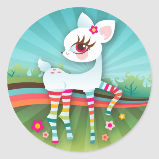 Oh Deer! Colorful Albino Stickers