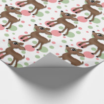 Oh Deer Girl Wrapping Paper