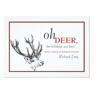 Oh Deer Holiday Card