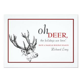 "Oh Deer Holiday Card 5"" X 7"" Invitation Card"