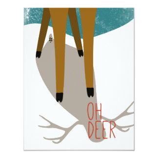 "Oh Deer 4.25"" X 5.5"" Invitation Card"