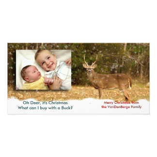 Oh Deer it christmas photo card