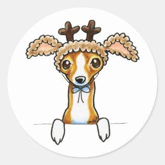 Oh Deer Italian Greyhound Classic Round Sticker