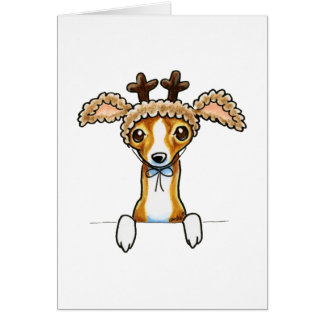 Oh Deer Italian Greyhound Greeting Cards