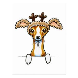 Oh Deer Italian Greyhound Postcard