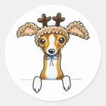 Oh Deer Italian Greyhound Sticker