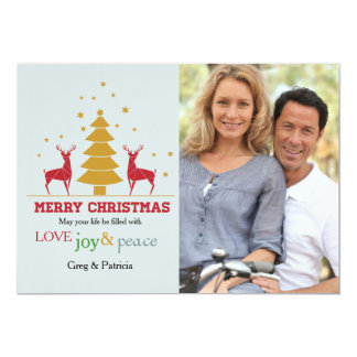 "Oh Deer Photo Holiday Card 5"" X 7"" Invitation Card"