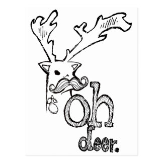 Oh Deer Postcard