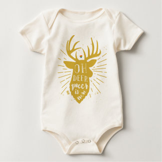 Oh Deer Queer Here Gay Pride LGBT Rein Christmas Baby Bodysuit