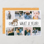 "'Oh Deer, What a Year!' Photo Collage Christmas Holiday Card<br><div class=""desc"">A modern photo collage christmas holiday card featuring the saying 'Oh dear, what a Year!' with an image of a deer and 8 square pictures documenting life during 2020, your names and the year. Christmas card is easy to customize by using the template provided. The reverse can be changed to...</div>"