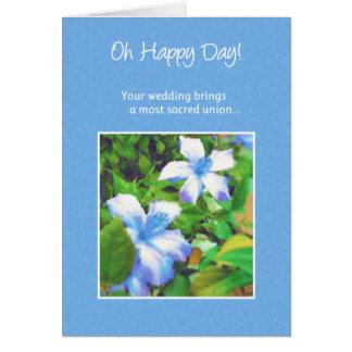 ¡Oh día feliz! … Boda Tarjeta De Felicitación