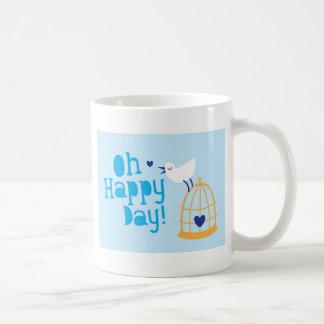 ¡Oh día feliz! con el pájaro azul Taza Clásica