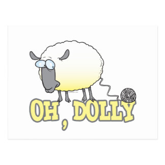 oh dolly funny cloned yarn sheep postcard