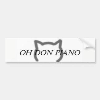 Oh Don Piano bumper sticker
