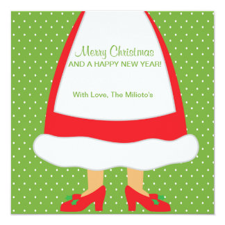 Oh Dots, Dots Mrs. Claus Card