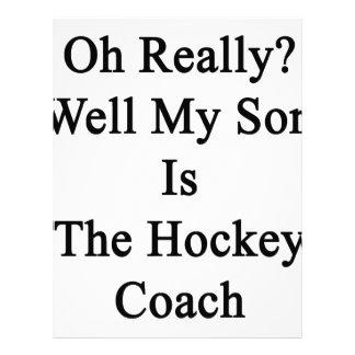 Oh el pozo mi hijo es realmente el coche de hockey membretes personalizados