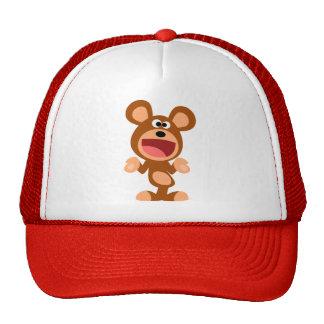 """""""Oh…"""" Encogimiento del gorra del oso del dibujo an"""