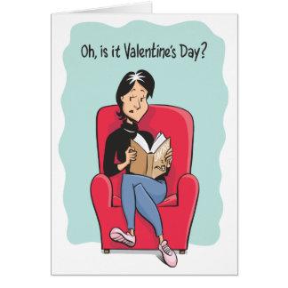 ¿Oh, es el día de San Valentín? Tarjeta