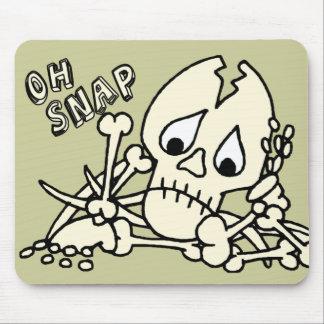 Oh esqueleto rápido alfombrilla de ratón