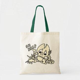Oh esqueleto rápido bolsa tela barata