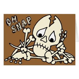 Oh esqueleto rápido felicitacion