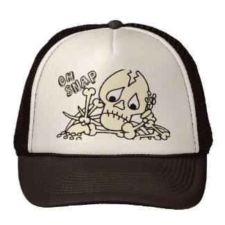 Oh esqueleto rápido gorros bordados