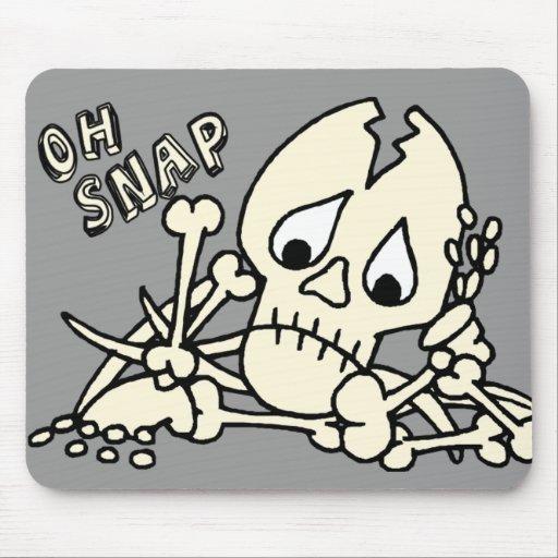 Oh esqueleto rápido alfombrillas de raton