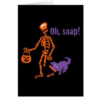 Oh esqueleto rápido tarjeta
