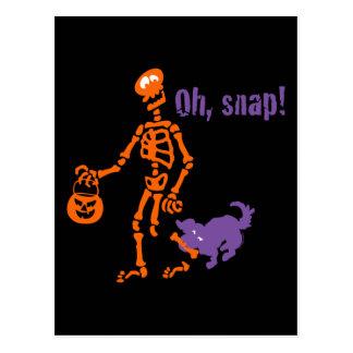 Oh, esqueleto rápido postal