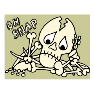 Oh esqueleto rápido tarjeta postal