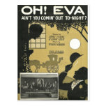 Oh eva aint you comin out tonight postcard