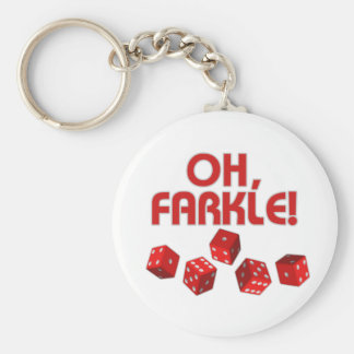 Oh, Farkle! Basic Round Button Keychain