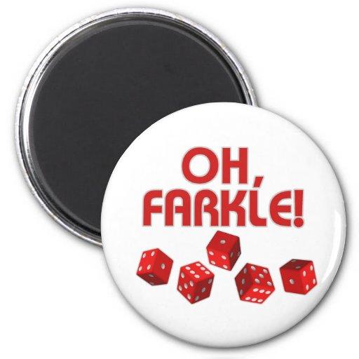 Oh, Farkle! Refrigerator Magnet