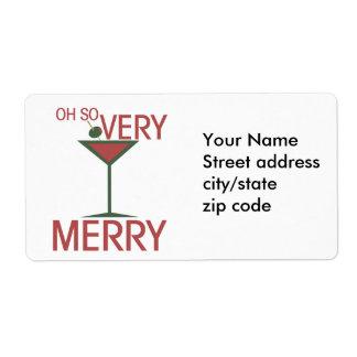 Oh Felices Navidad tan MUY Etiquetas De Envío