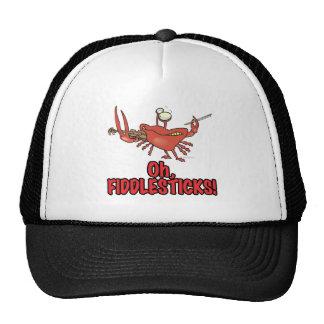 OH FIDDLESTICKS silly fiddler crab Mesh Hats