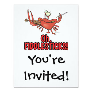 OH FIDDLESTICKS silly fiddler crab Personalized Invite