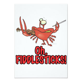 OH FIDDLESTICKS silly fiddler crab Personalized Invitations