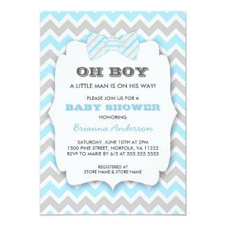 """OH fiesta de bienvenida al bebé de Bowtie/galón Invitación 5"""" X 7"""""""