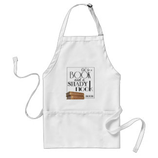 Oh for a book and a shady nook adult apron