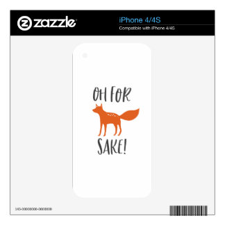 Oh For Fox Sake! 2 Skin For The iPhone 4S