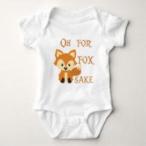 Oh For Fox Sake Baby Bodysuit
